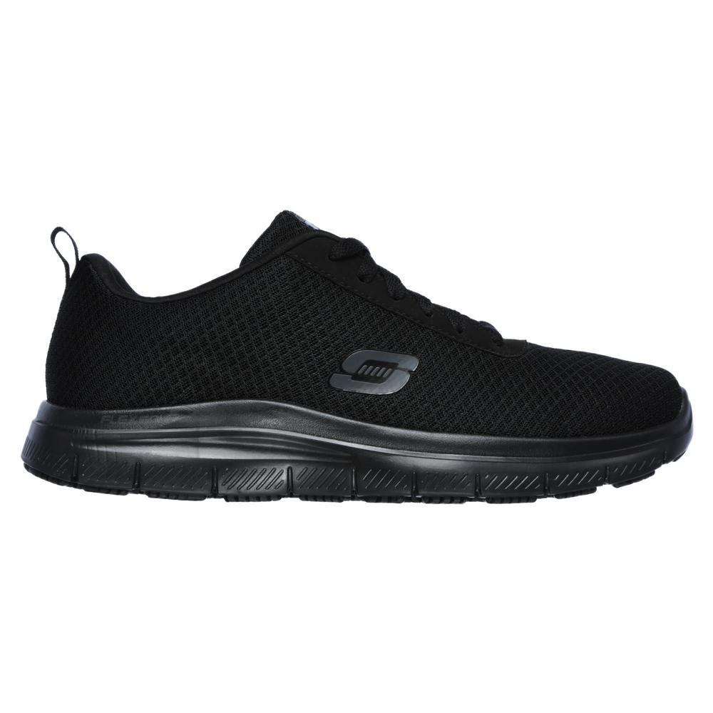 Skechers Men's Flex Advantage Bendon Slip Resistant Athletic Shoes Soft Toe Black Size 7(M) 77125 7 The Home Depot