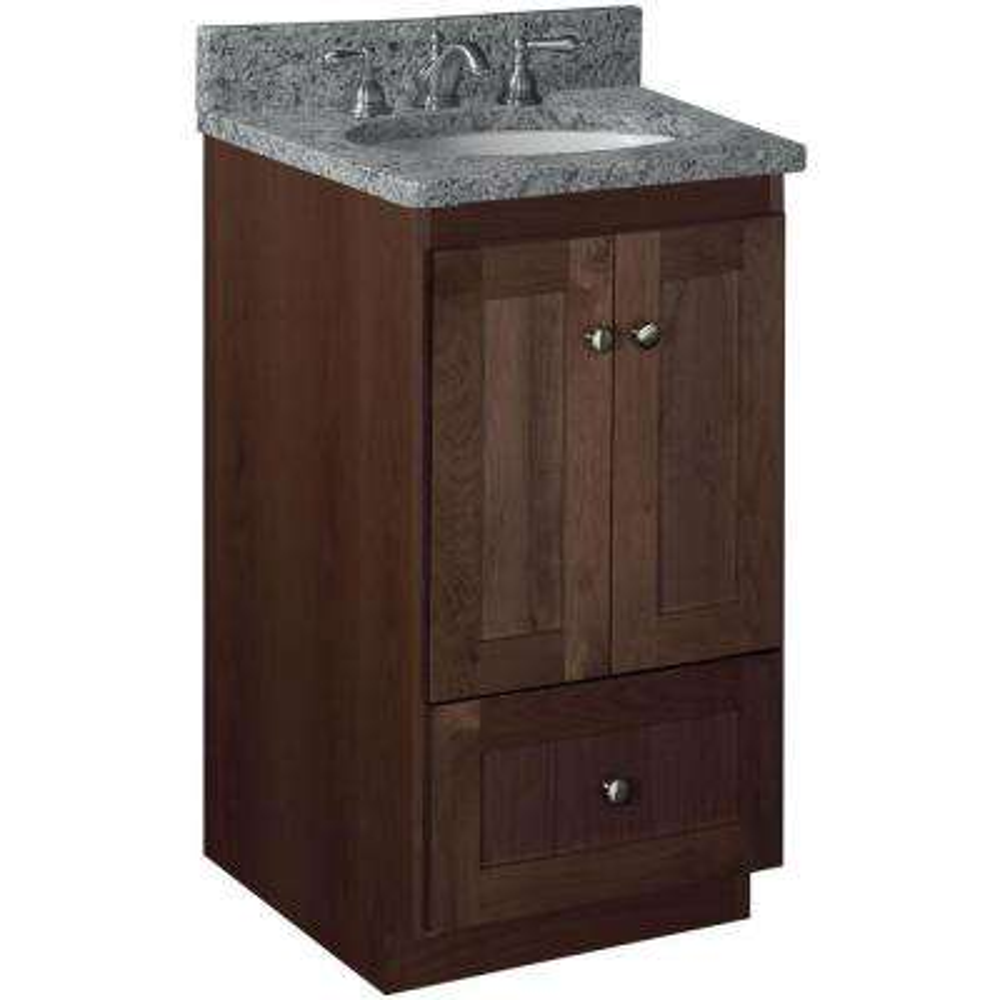 Shaker 18 in. W x 21 in. D x 34.5 in. H Vanity Cabinet Only in Dark Alder