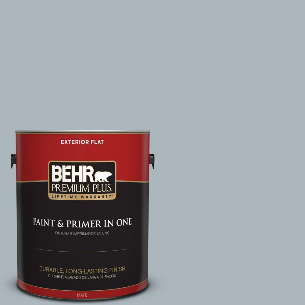 1-gal. #N490-3 Shaved Ice Flat Exterior Paint