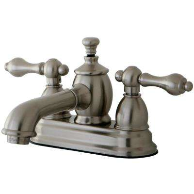 English Country 4 in. Centerset 2-Handle Bathroom Faucet in Brushed Nickel