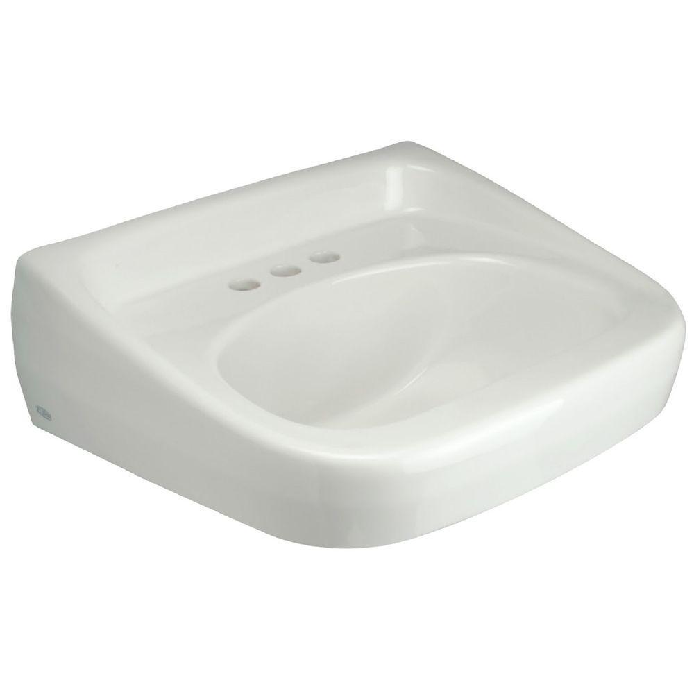 Zurn Wall Mounted Bathroom Sink in White