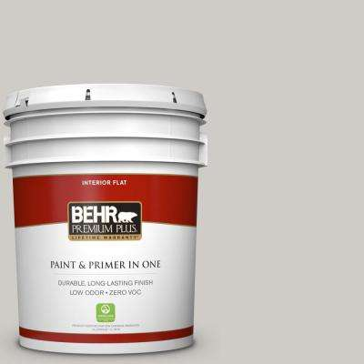 5 gal. #PPU26-10 Chic Gray Flat Zero VOC Interior Paint and Primer in One