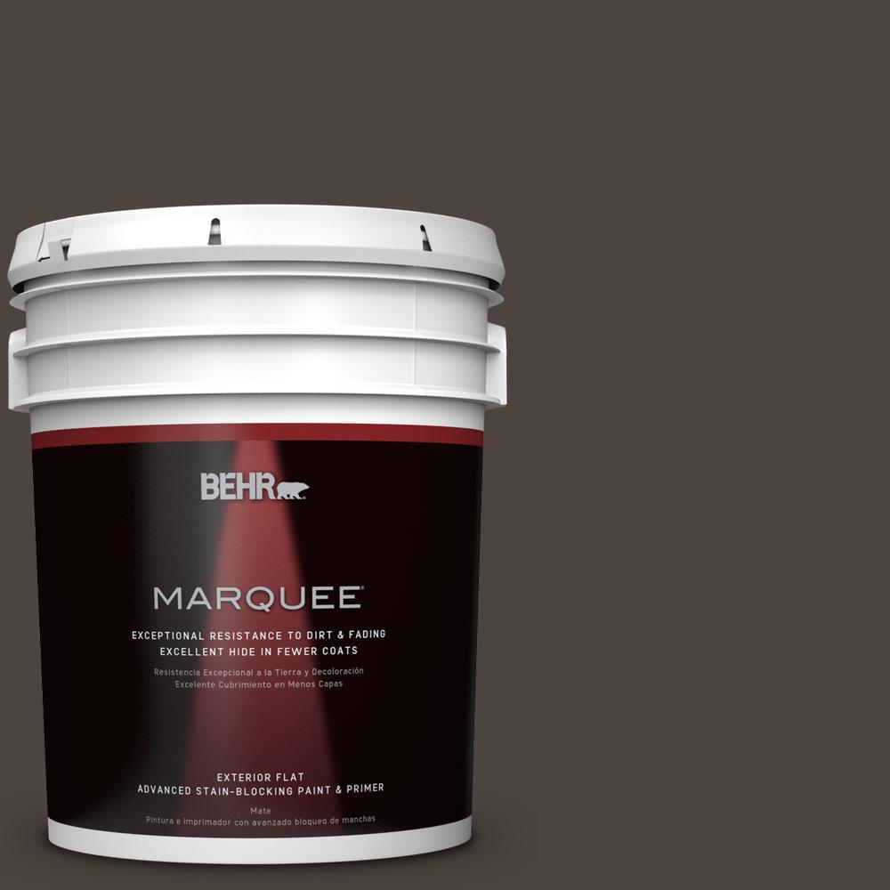 5-gal. #PPU5-1 Espresso Beans Flat Exterior Paint