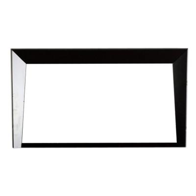 Colma 46 in. x 26 in. Single Framed Wall Mirror in Dark Espresso