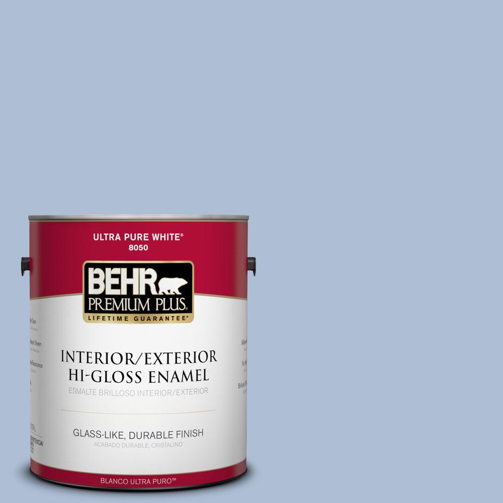 1-gal. #580E-3 Sweet Blue Hi-Gloss Enamel Interior/Exterior Paint