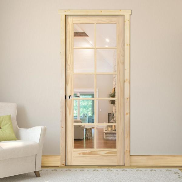 Steves Sons 24 In X 80 In 10 Lite French Unfinished Pine Right Hand Solid Core Wood Single Prehung Interior Door With Bronze Hinge J64n2nnnllrhb The Home Depot