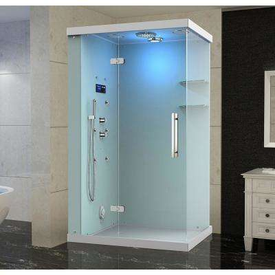 Ovato Windemere 48 in. x 36 in. x 87 in. Rectangular Steam Shower Enclosure with 6-Body Jets, Left Hand