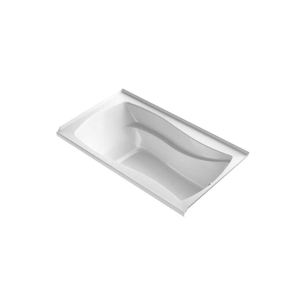 KOHLER Mariposa 5.5 ft. Air Bath Tub with Bask in White