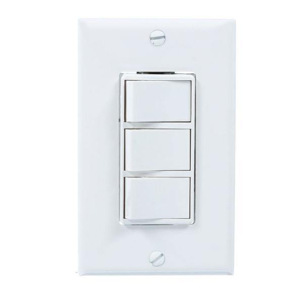 4-Function Wall Control in White