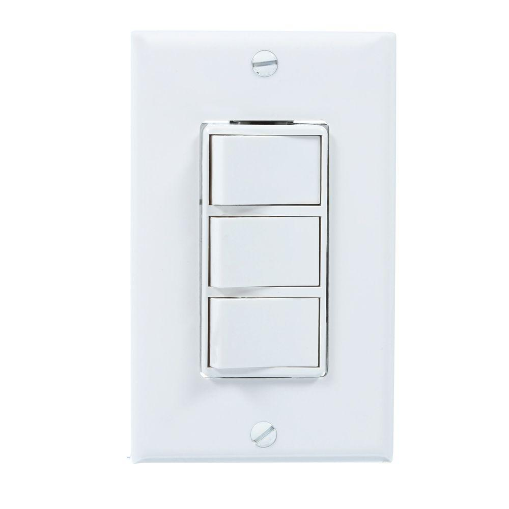 Broan White 4-function Wall Control-77dw