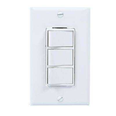 White 4-Function Wall Control