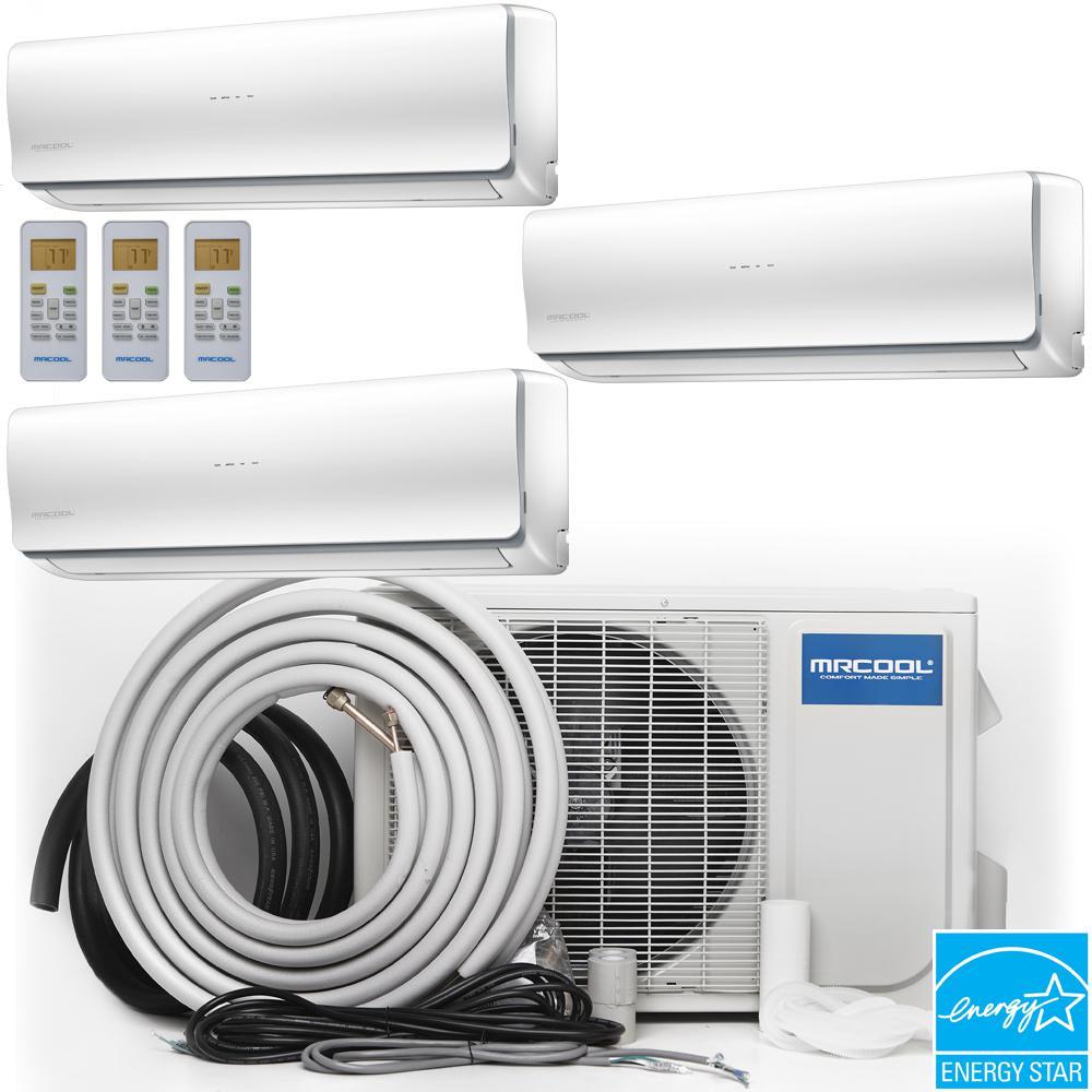 Olympus 48,000 BTU 4 Ton Ductless Mini-Split Air Conditioner and Heat Pump, 16 ft. Install Kit - 230-Volt/60Hz