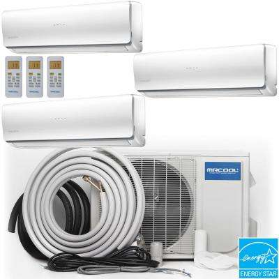 Olympus 28000 BTU Ductless Mini Split Air Conditioner and Heat Pump with 25 ft. Install Kit - 230-Volt