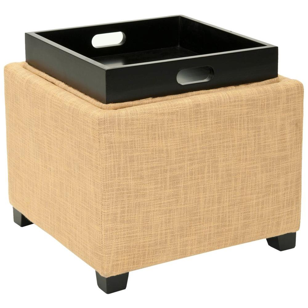Safavieh Harrison Gold Storage Ottoman