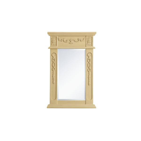 Medium Rectangle Light Antique Beige Contemporary Mirror (28 in. H x 18 in. W)