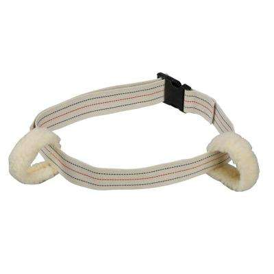 Professional Men's Large White/Tan Fleece Ambulation Gait Belts