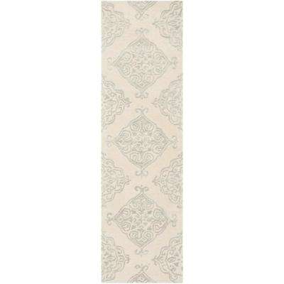 Glamour Ivory/Silver 2 ft. 3 in. x 8 ft. Runner Rug