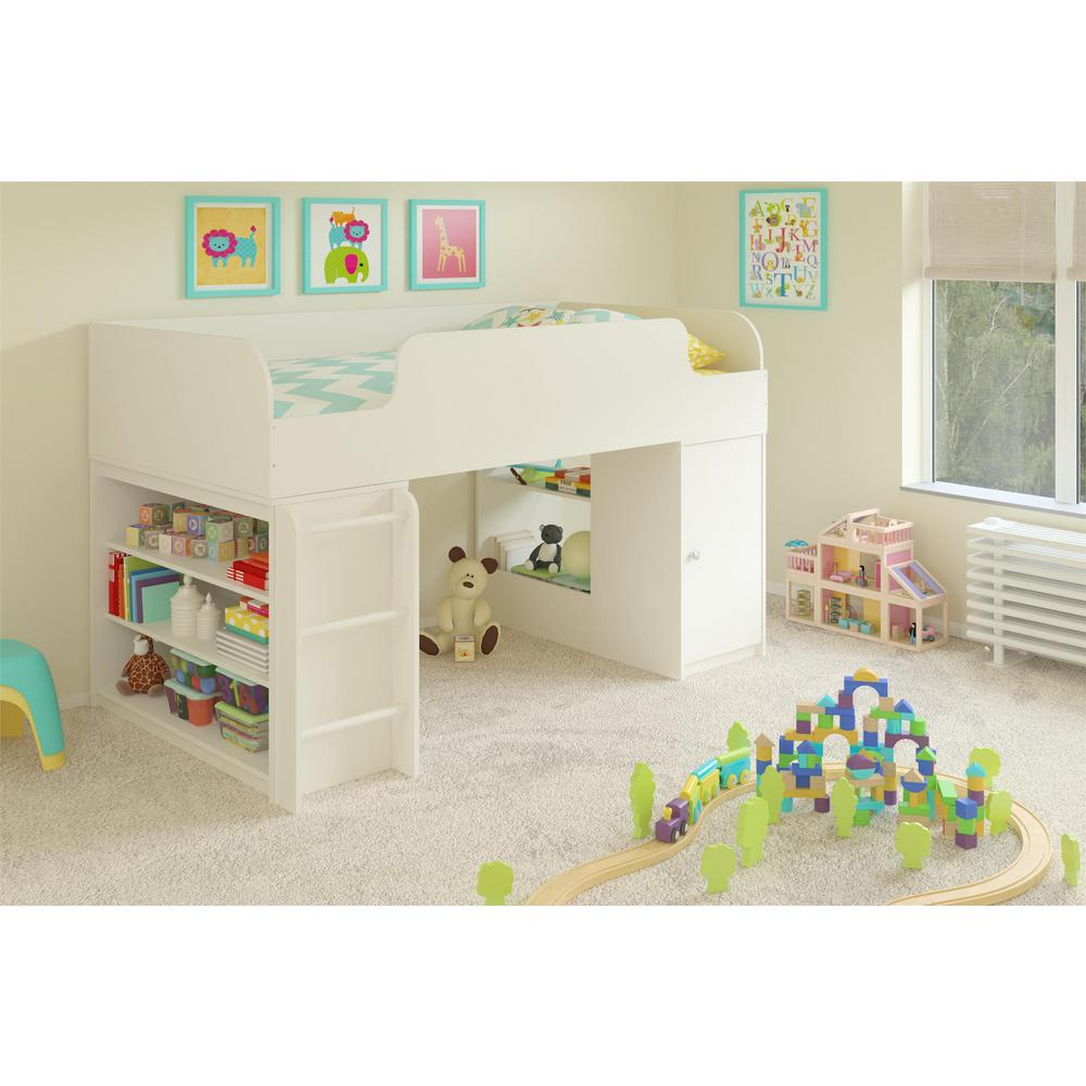 Cosco Elements 1 Piece White Twin Kids Bedroom Set