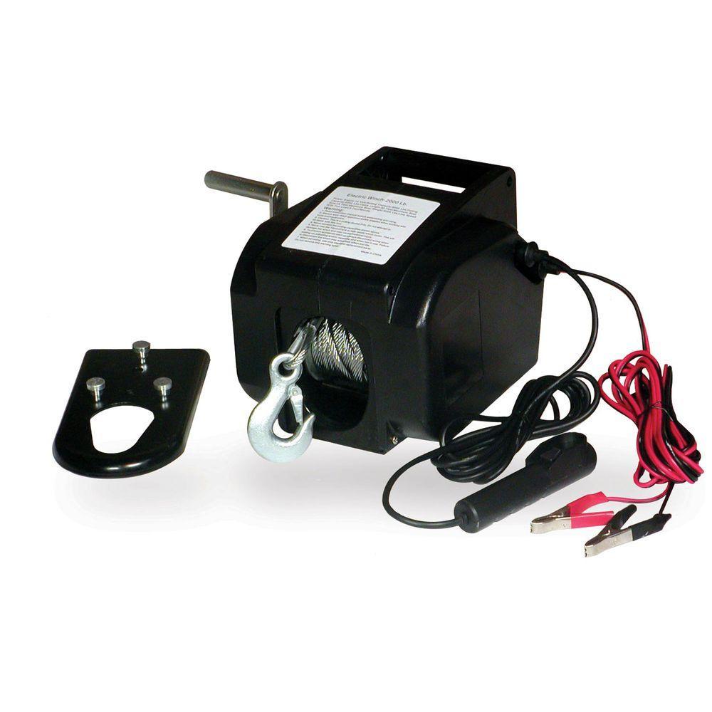 Buffalo Tools 2000 lb. 12-Volt Portable Winch
