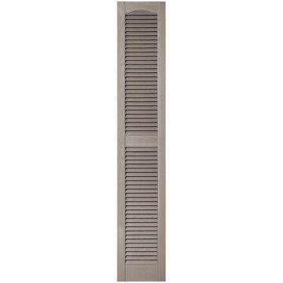 12 in. x 67 in. Louvered Vinyl Exterior Shutters Pair in #008 Clay