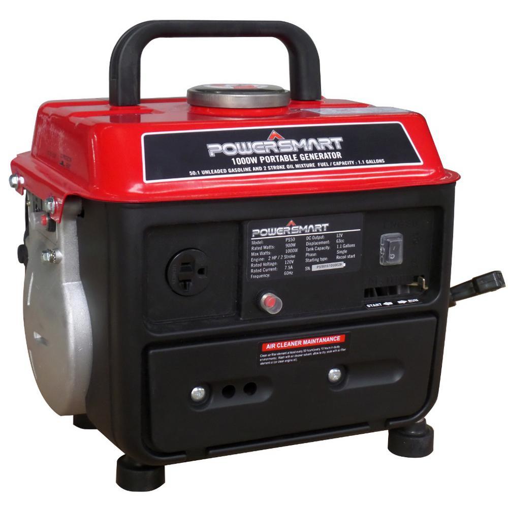 powersmart 900 watt gasoline powered manual start portable generator rh homedepot com Power Max Generator Manual Coleman Powermate 2500 Generator Manual
