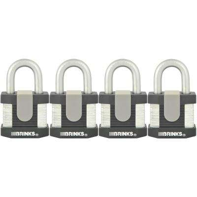 Commercial 2 in. Laminated Steel Keyed Padlock (4-Pack)