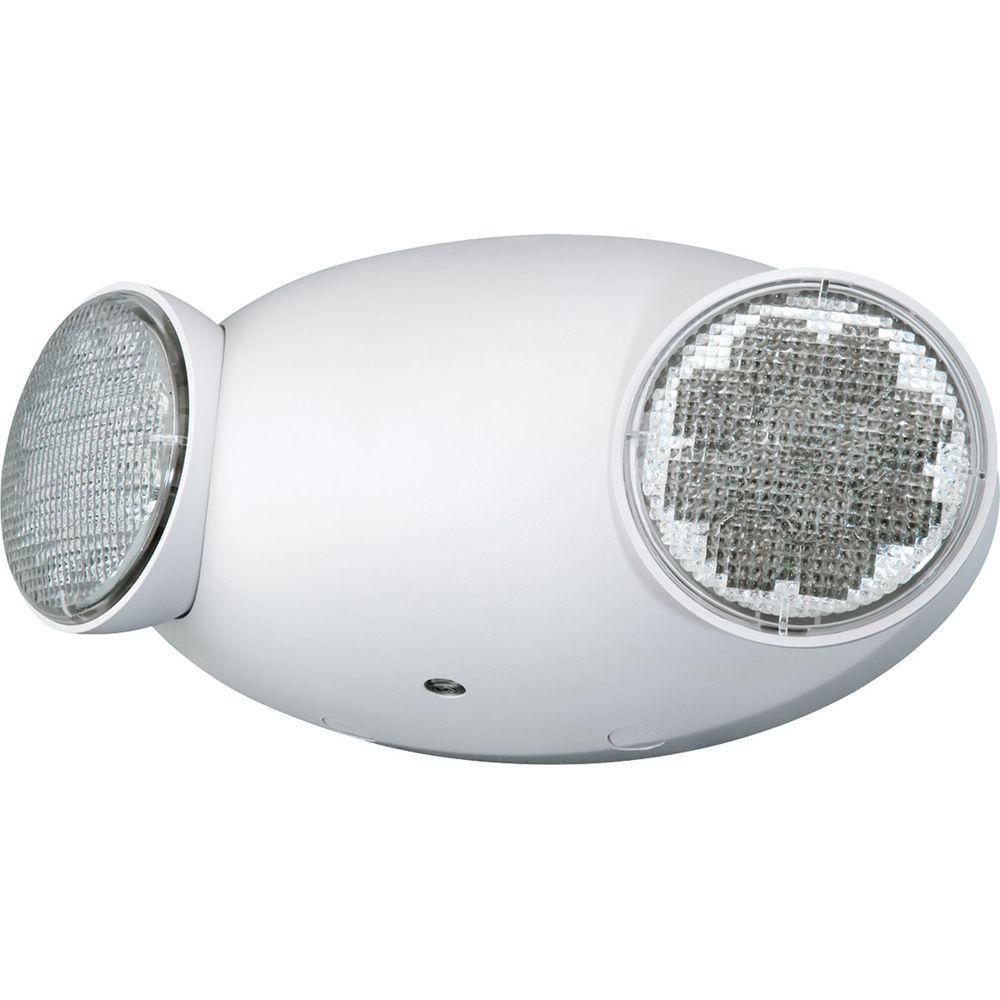 Progress Lighting 2-Light White LED Emergency Fixture Unit