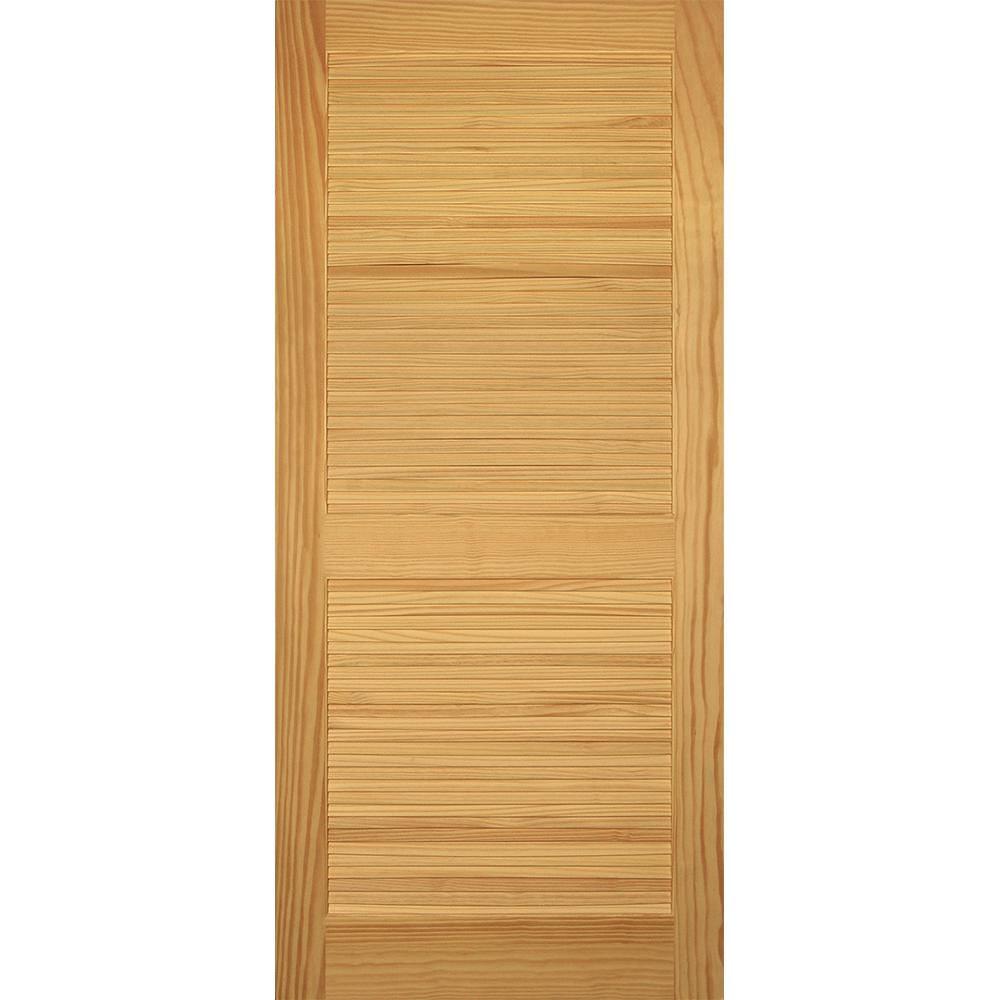 Builder's Choice 36 In. X 80 In. Louver/Louver Clear Pine