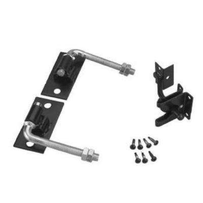 Black Steel Flat Wall Fence Gate Hardware Kit