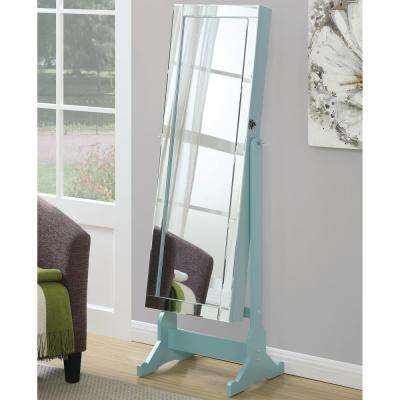 Ella Light Blue Jewelry Armoire