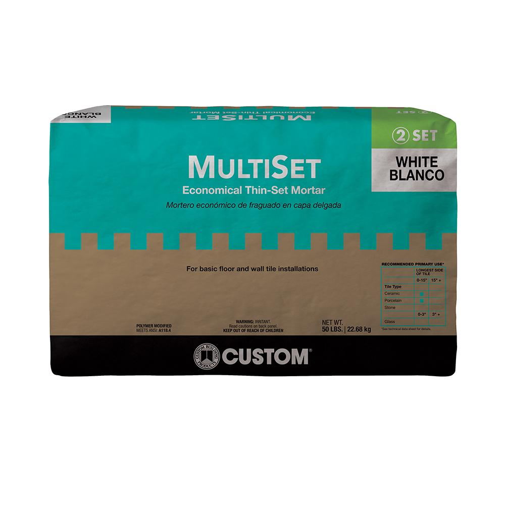 Custom Building Products MultiSet White 50 lb. Modified Thin-Set Mortar