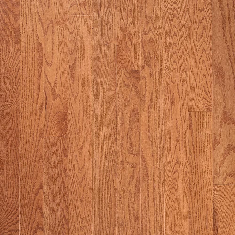 Plano Gunstock Oak 3/4 in. Thick x 5 in. W x Varying Length Solid Hardwood Flooring (23.5 sq. ft./Case)