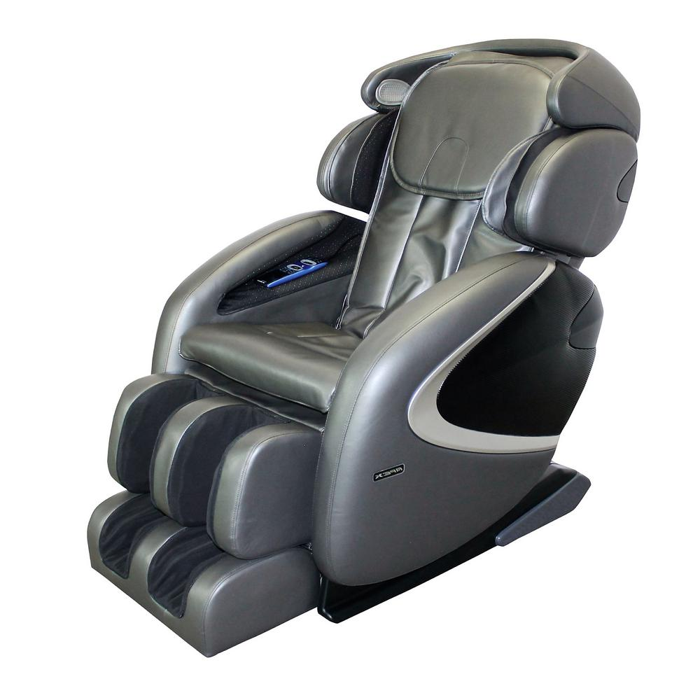 Titan Osaki Gray Faux Leather Reclining Massage Chair