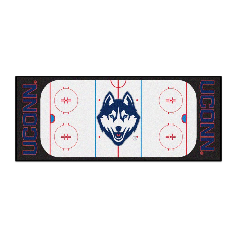 FANMATS NCAA University of Connecticut  Huskies Vinyl Heavy Duty Car Mat