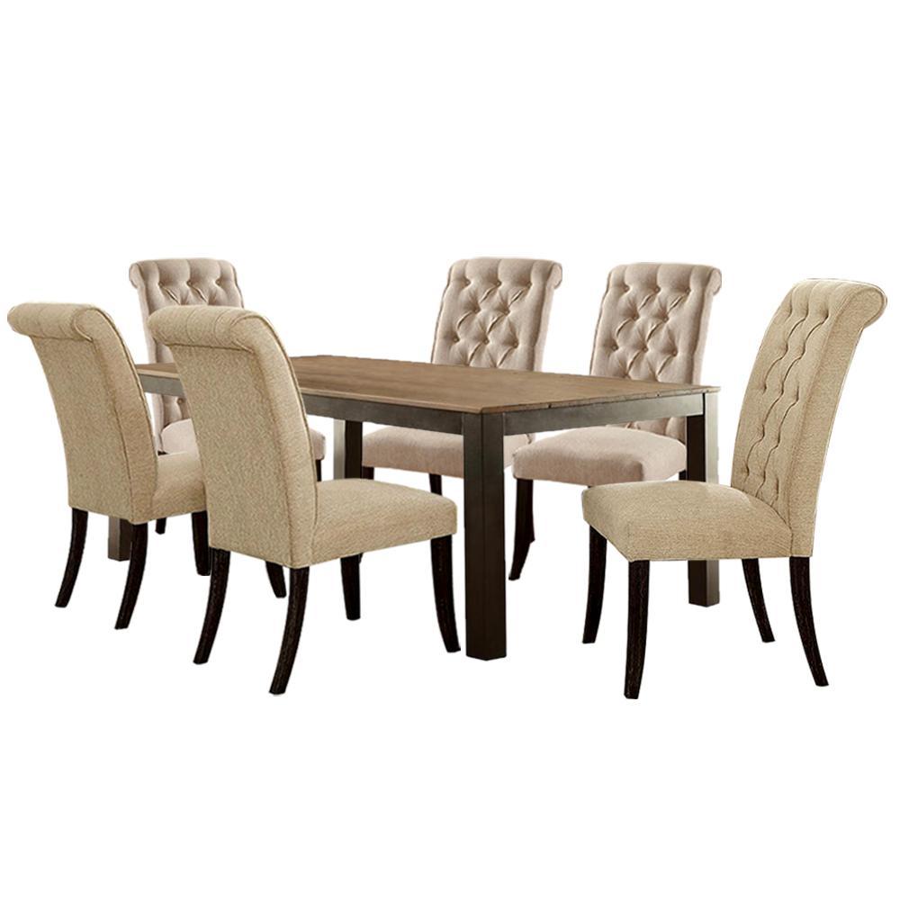 Williams Home Furnishing Table Set Ivory Finish