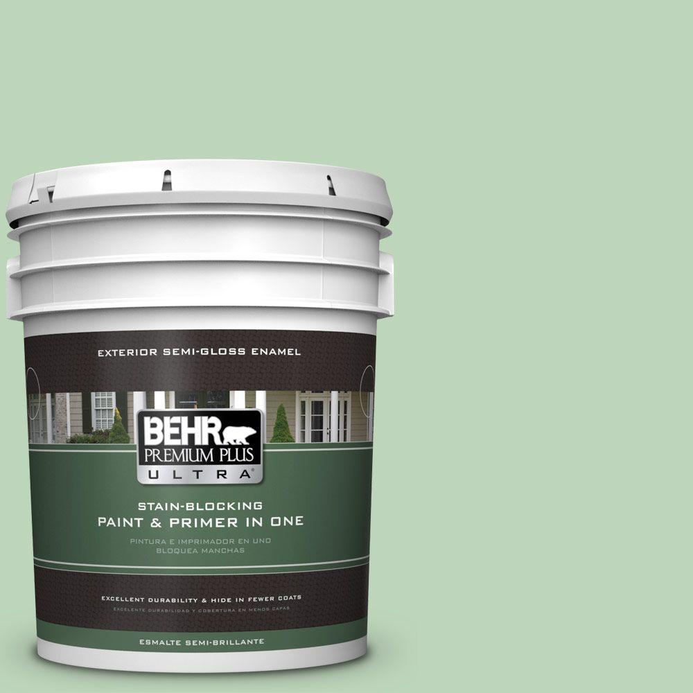 BEHR Premium Plus Ultra 5-gal. #M400-3 Bok Choy Semi-Gloss Enamel Exterior Paint