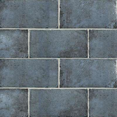12 in. x 6 in. Jovani Azul Matte Porcelain Floor and Wall Tile (11 sq. ft. / Case)
