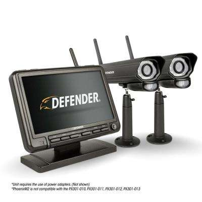 PHOENIXM2 Digital Wireless 7 in. Monitor DVR Security System with 2 Night Vision Cameras and SD Card Recording