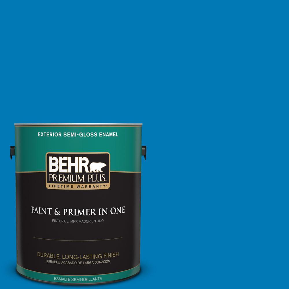 1-gal. #P500-6 Deep River Semi-Gloss Enamel Exterior Paint