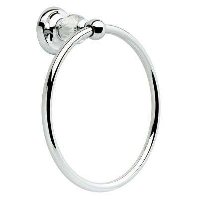Nora Towel Ring in Chrome and Glass