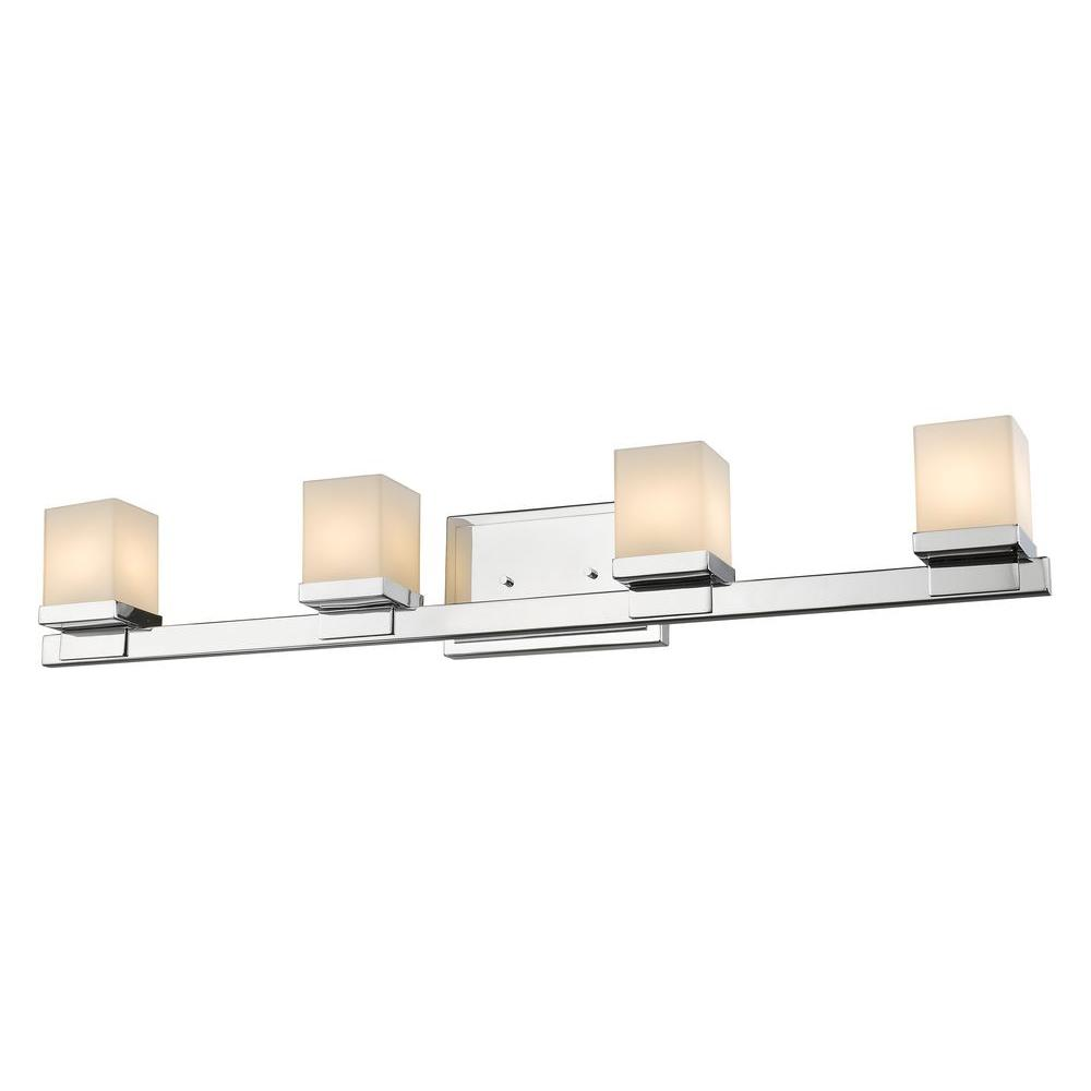 Mera 4-Light Chrome Bath Vanity Light