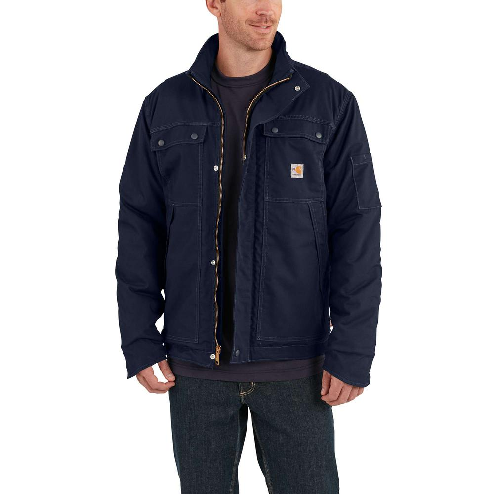 Carhartt Men's 2X-Large Tall Dark Navy Cotton/Nylon FR Full Swing Quick Duck Coat
