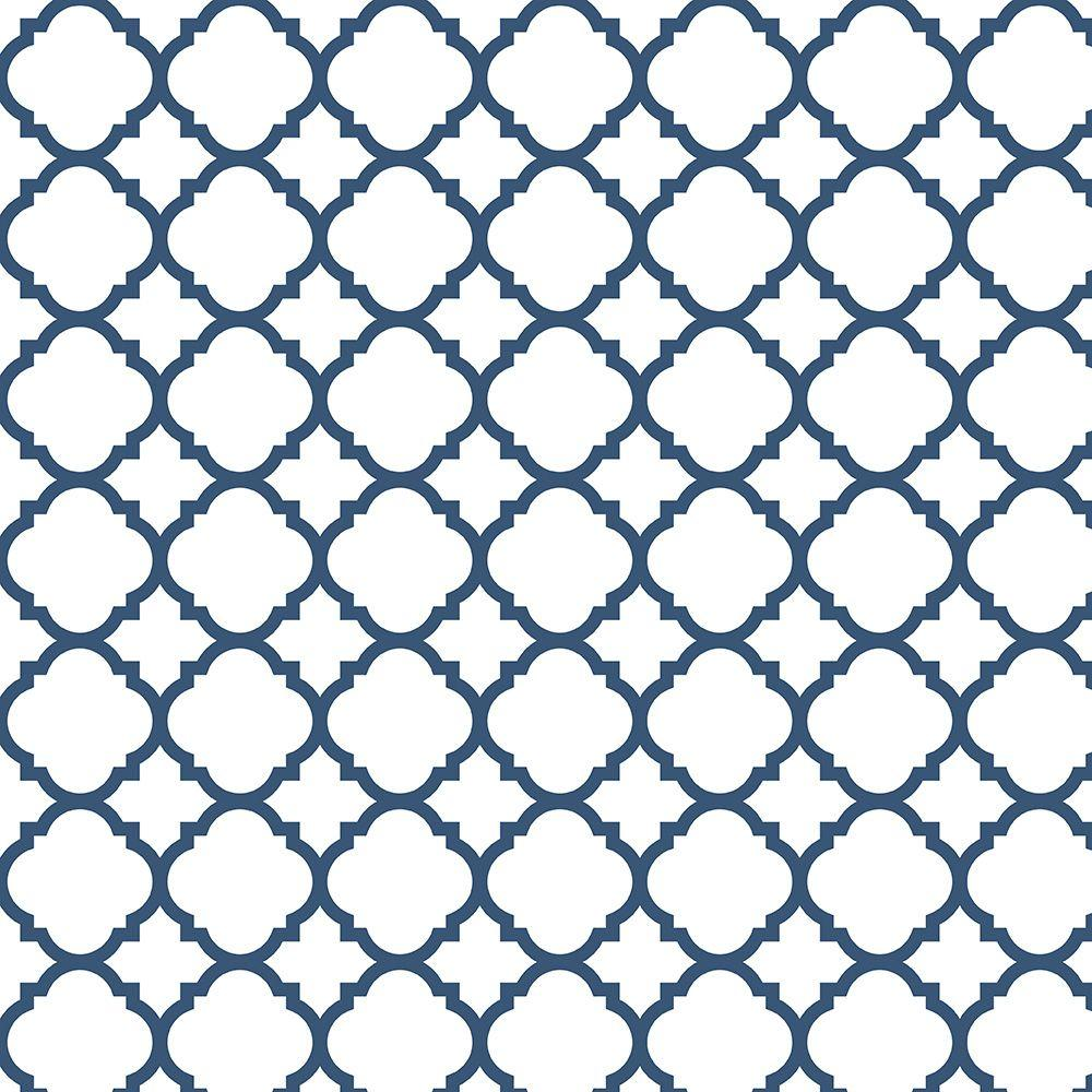 Liberty 18 in. Navy Quatrefoil Adhesive Shelf Liner-DLN006-NVY-C ...