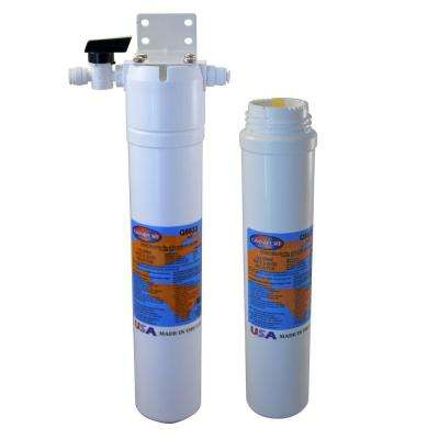 Carbon Block Under Sink Water Filter with 1500 Gal. Capacity and Second Replacement Water Filter Cartridge
