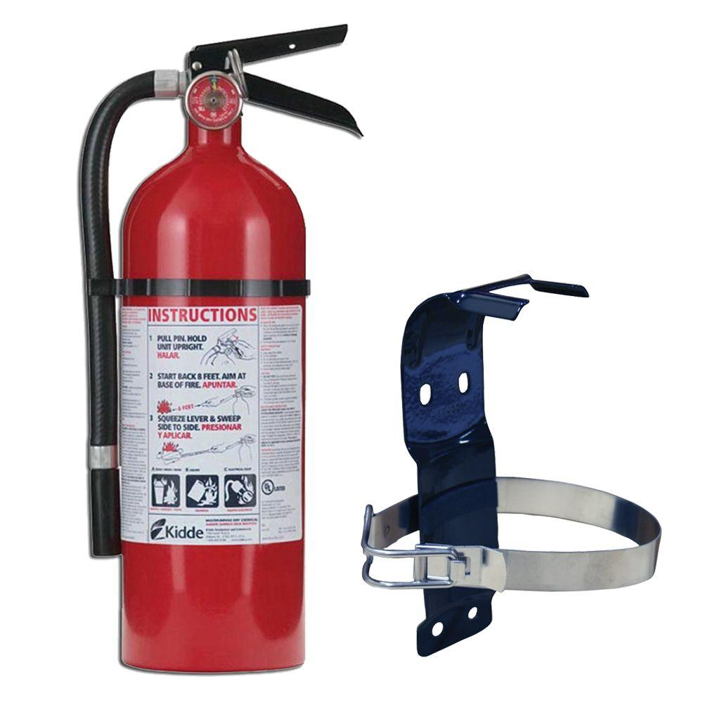 Kidde Pro 2A:10-B:C Fire Extinguisher Bundle with additional Mounting Bracket