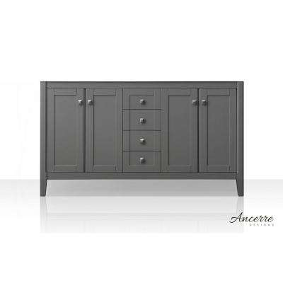 Shelton 59 in. W x 21 in. D Vanity Cabinet Only in Sapphire Gray