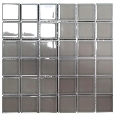 Monet Pebble Gray Square Mosaic 2 in. x 2 in. Porcelain Wall Tile (20.160 Sq. ft./Case)