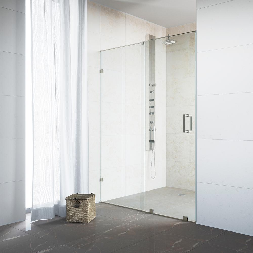Vigo Ryland 64 In X 715 In Semi Framed Sliding Shower Door In
