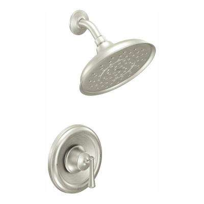 Ashville Eco-Performance Single-Handle 1-Spray Shower Faucet with Valve in Spot Resist Brushed Nickel (Valve Included)