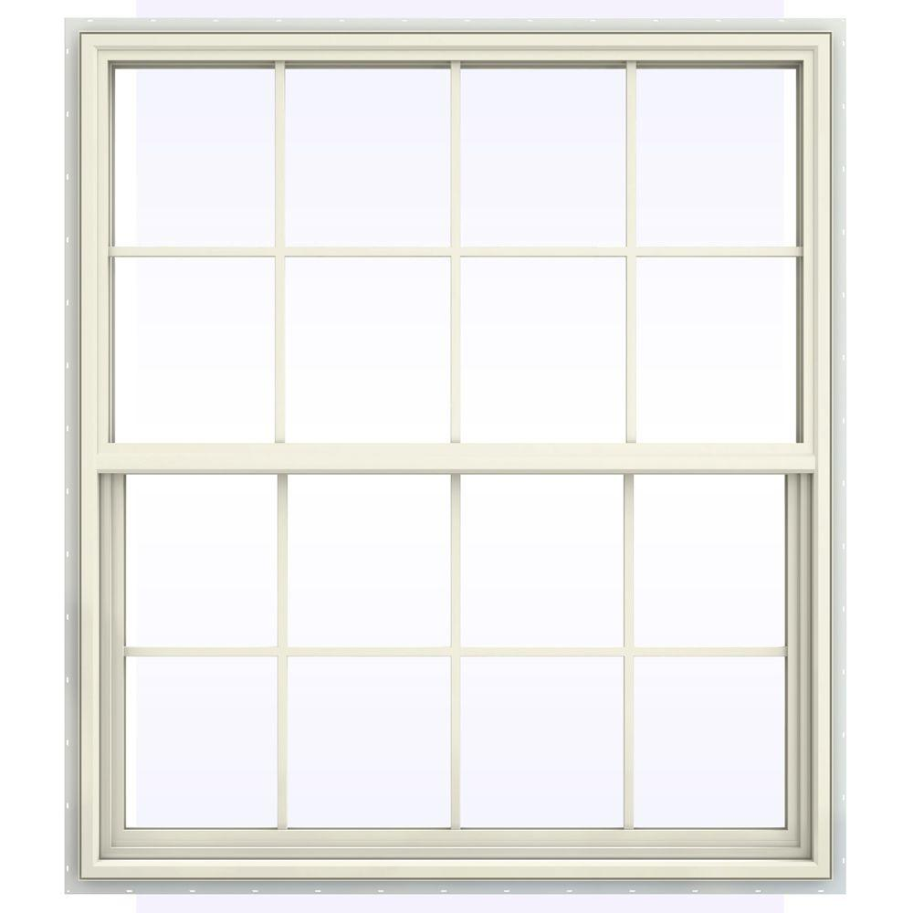 Jeld wen 47 5 in x 41 5 in v 4500 series single hung for Ply gem vinyl windows reviews